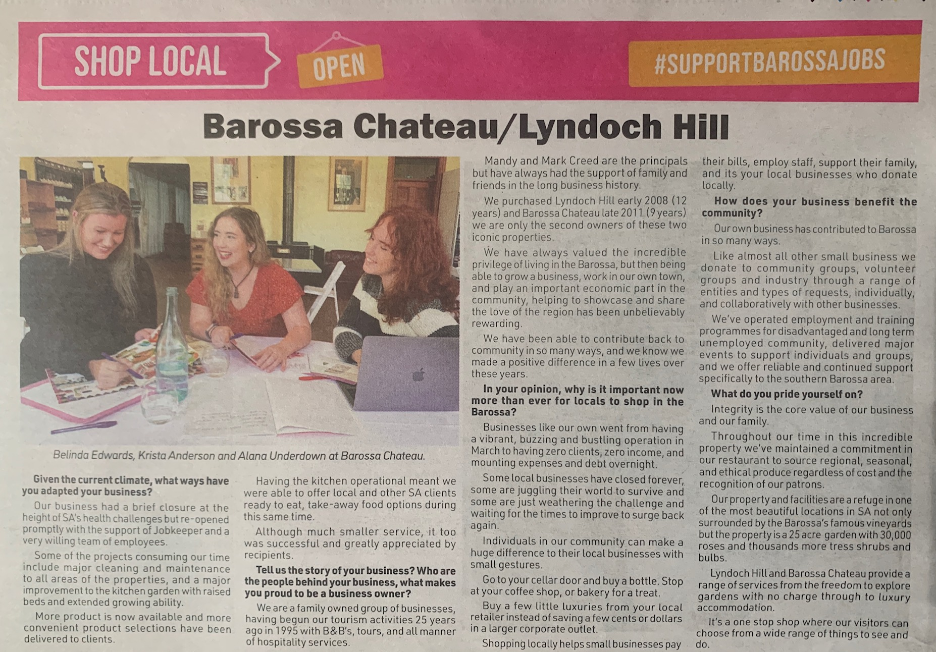 Barossa Shop Local Q&A – The Leader